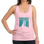 Bride and Groom silhouettes Racerback Tank Top