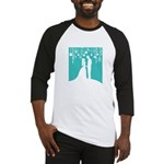 Bride and Groom silhouettes Baseball Jersey