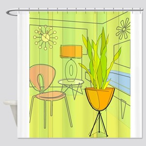 1960s 4 Shower Curtain