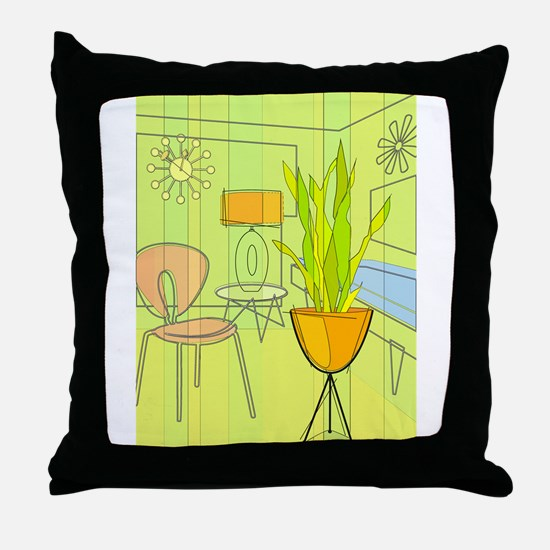 1960s 4 Throw Pillow