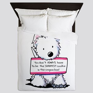 Vital Signs Westie: Sharp Queen Duvet