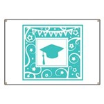 Graduate hat in teal Banner