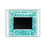 Graduate hat in teal Picture Frame