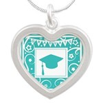 Graduate hat in teal Necklaces