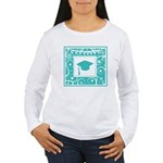 Graduate hat in teal Long Sleeve T-Shirt