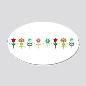 Retro folk floral line Wall Sticker