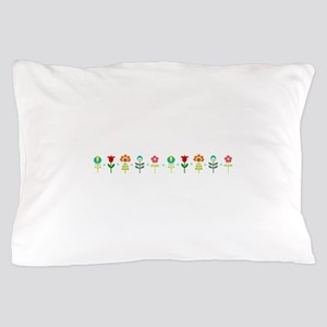 Retro folk floral line Pillow Case