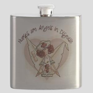 Nurses are Angels Flask