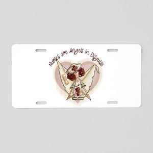 Nurses are Angels Aluminum License Plate