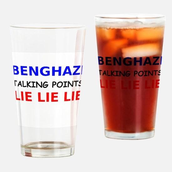 Benghazi Talking Points Drinking Glass