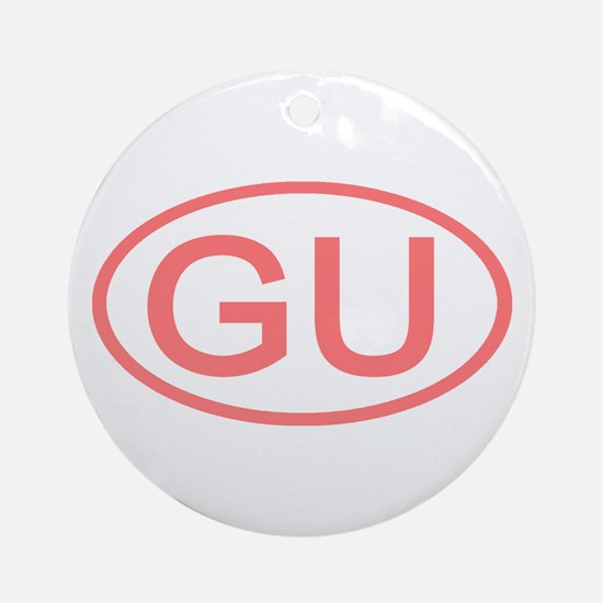 GU Oval - Guam Ornament (Round)