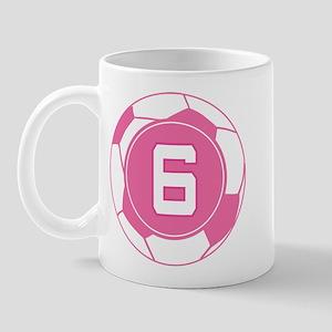 Soccer Number 6 Custom Player Mug
