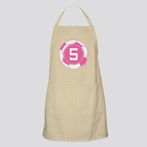 Soccer Number 5 Custom Player Apron