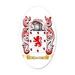 Castillas Oval Car Magnet