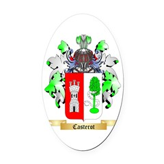 Casterot Oval Car Magnet