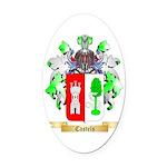 Castels Oval Car Magnet
