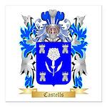 Castells Square Car Magnet 3