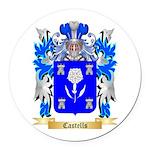 Castells Round Car Magnet