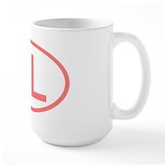 FL Oval - Florida Large Mug