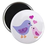 Cute mother and child birds Magnet