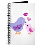 Cute mother and child birds Journal
