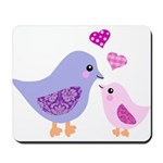 Cute mother and child birds Mousepad