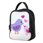 Cute mother and child birds Neoprene Lunch Bag