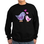 Cute mother and child birds Jumper Sweater