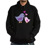 Cute mother and child birds Hoody