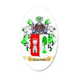 Castellone Oval Car Magnet