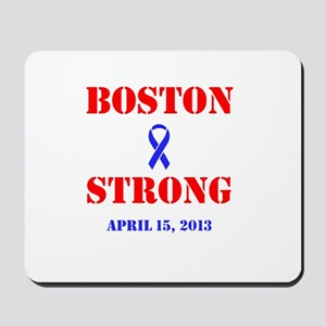 Boston Strong Red and Blue Mousepad
