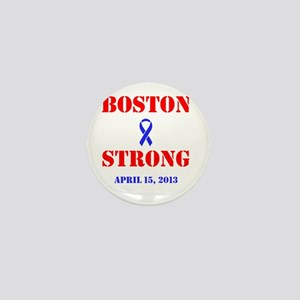 Boston Strong Red and Blue Mini Button