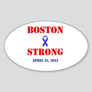 Boston Strong Red and Blue Sticker