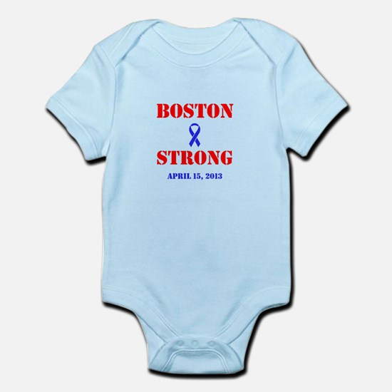 Boston Strong Red and Blue Body Suit