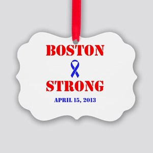 Boston Strong Red and Blue Ornament