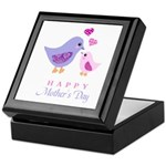 Happy Mothers day bird and chick Keepsake Box