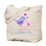 Happy Mothers day bird and chick Tote Bag