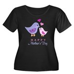 Happy Mothers day bird and chick Plus Size T-Shirt