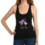 Happy Mothers day bird and chick Racerback Tank To