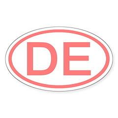 DE Oval - Delaware Oval Decal
