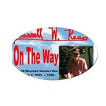 On The Way CD Oval Car Magnet