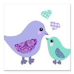 Mama bird and chick Square Car Magnet 3