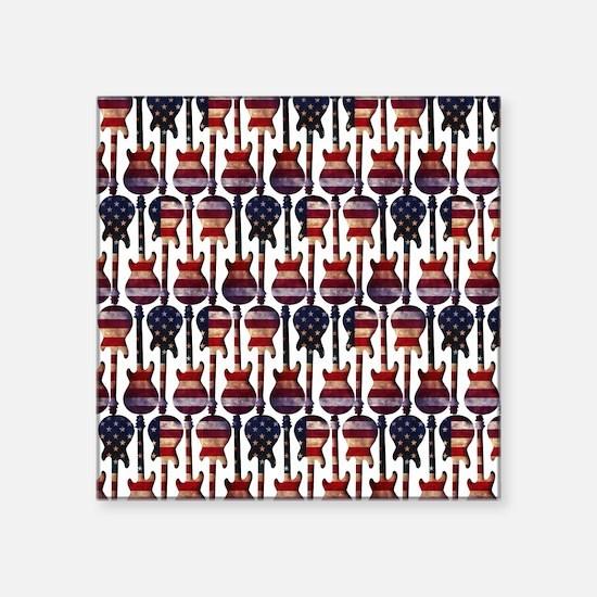 American Flag Guitar Art Sticker