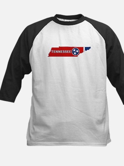 Tennessee Flag Kids Baseball Jersey