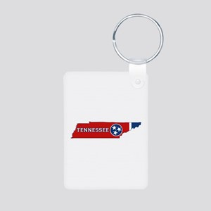 Tennessee Flag Aluminum Photo Keychain