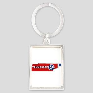 Tennessee Flag Portrait Keychain