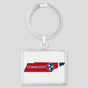 Tennessee Flag Landscape Keychain