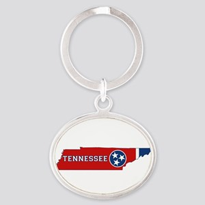 Tennessee Flag Oval Keychain