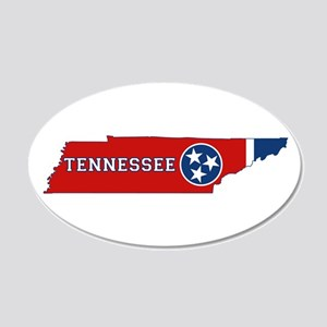 Tennessee Flag 20x12 Oval Wall Decal