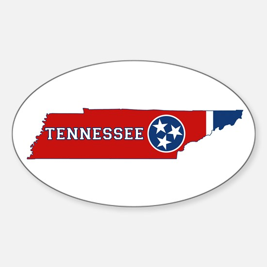 Tennessee Flag Sticker (Oval)